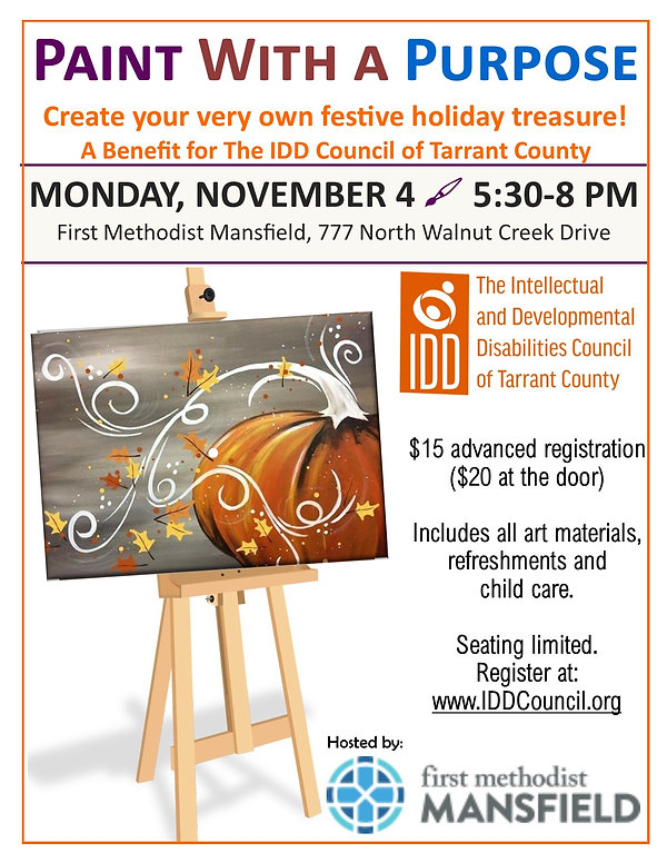 Fundraiser - Paint With a Purpose Nov201
