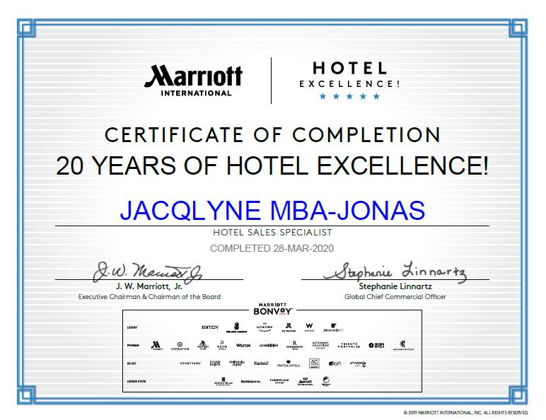 Marriot International Certified Travel Specialist