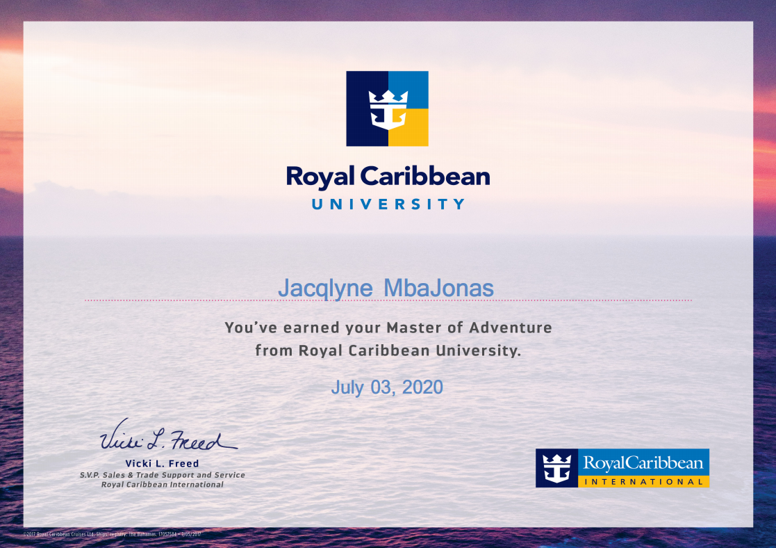 Royal Caribbean Cruise Line Certified Specialist