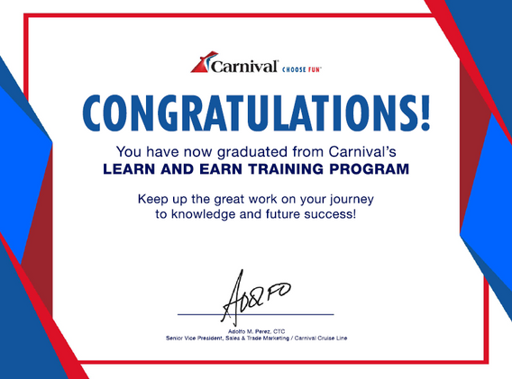 Carnival Cruise Line Certified Specialist