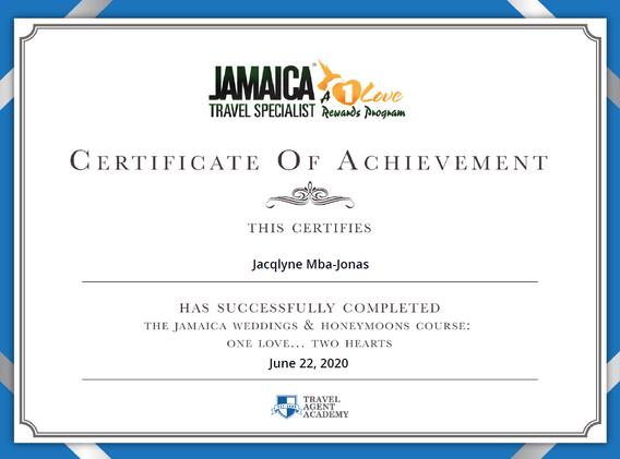 Jamaica Certified Weddings & Honeymoons Specialist