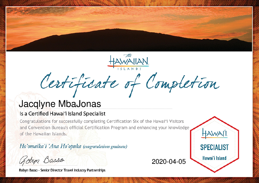 Hawaii Certified Travel Specialist