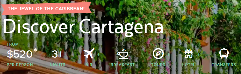 All-Inclusive trip to Cartagena Colombia