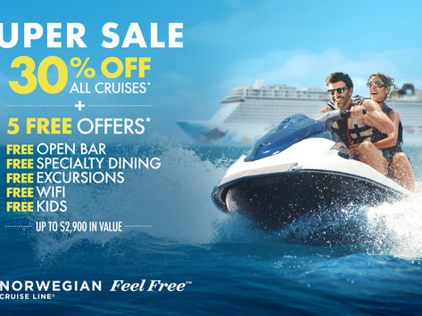 Norwegian Cruise Line - Free at Sea Promo