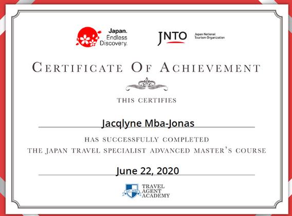 Japan Certified Travel Specialist