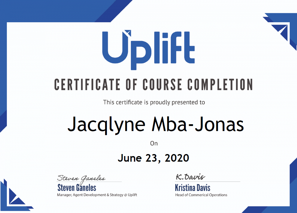 Uplift Certified Travel Finance Specialist