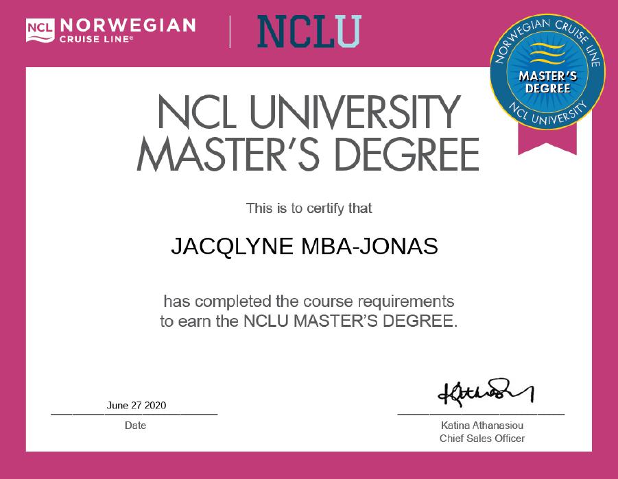 Norwegian Cruise Line Certified Specialist