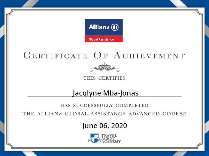 Allianz Certified Travel Insurance Specialist