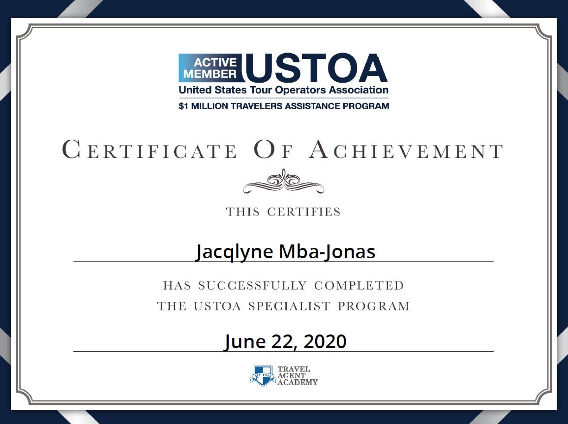 USTOA Certified Travel Specialist
