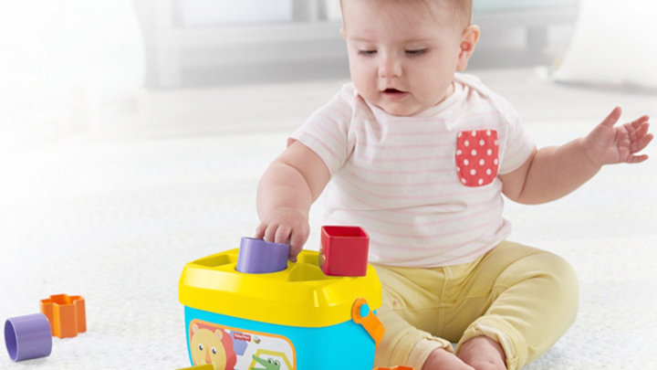 Korg med byggklossar Mattel 10 pcs (6+ månader)