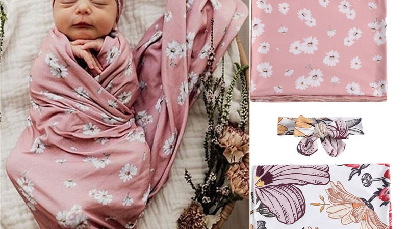 Cute Baby Girl Floral Printed Clothing Headband