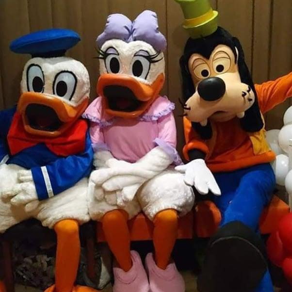 Família Disney Personagens vivos
