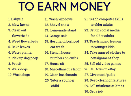 30 Ways for Kids to Earn Money