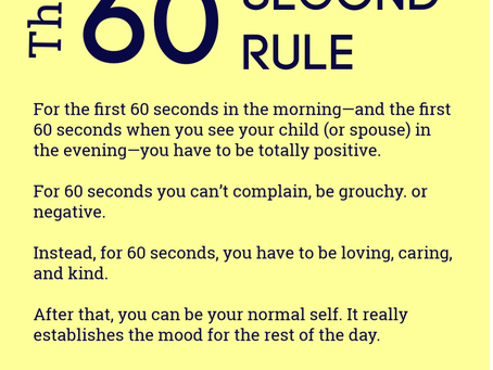 The 60 Second Rule