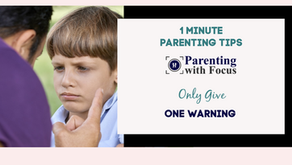 Only Give One Warning: One Minute Parenting Tip Video