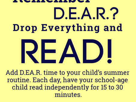 Remember D.E.A.R.? (Drop Everything and Read)
