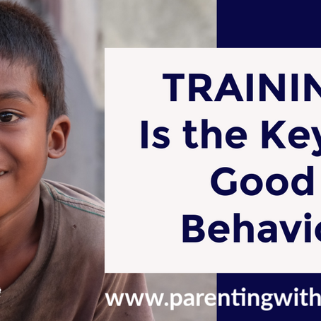 Training Is the Key to Good Behavior | One Minute Parenting Tips