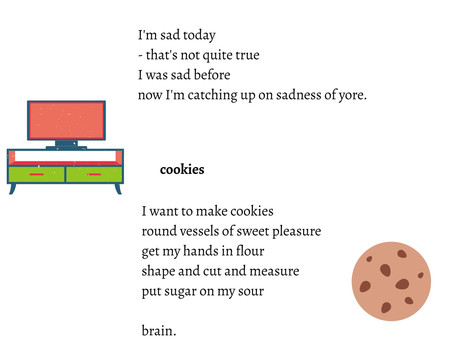 Day 25 of NaPoWriMo: Sadness With A Chance Of Cookies