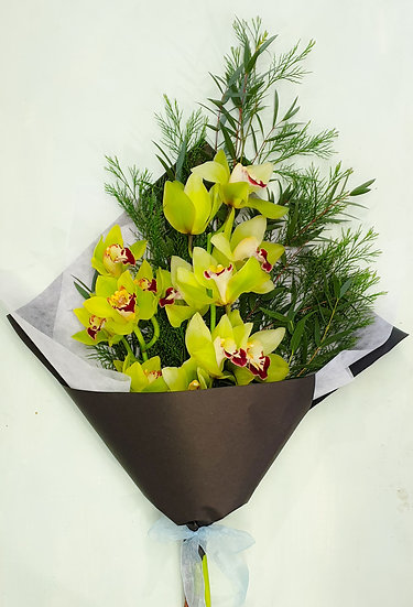 Double Orchid Green