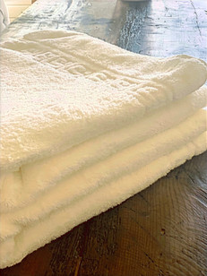 Badetücher und Handtücher inklusive