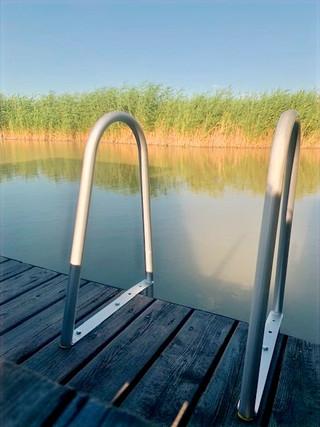 Schwimmen direkt vom Privatsteg aus.
