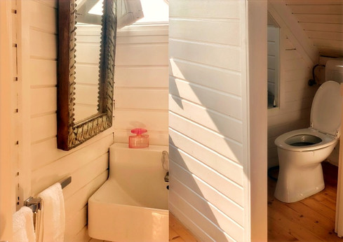 WC und kleines Bad.