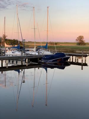 Oggau Hafen - klein und sehr romantisch.