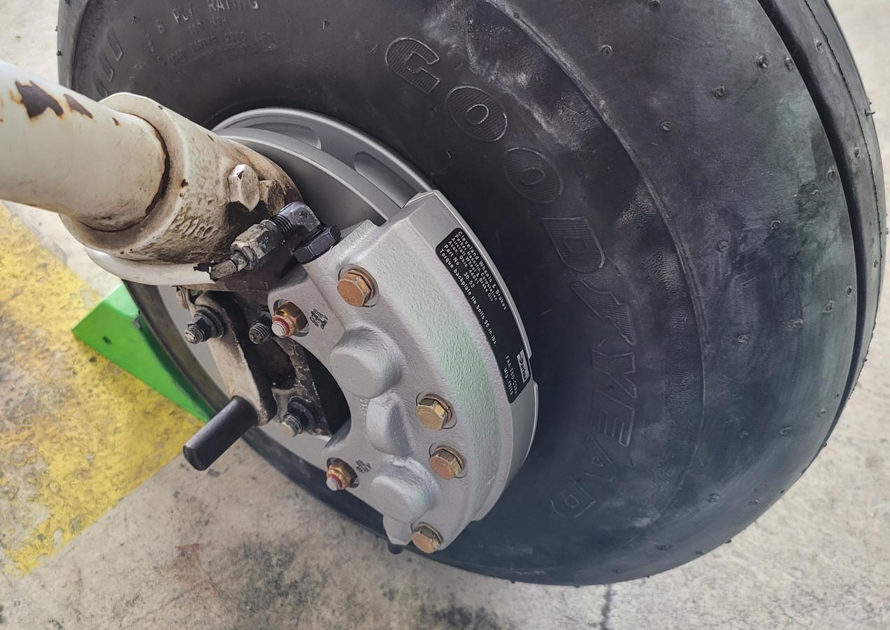 Newly Installed Cleveland Wheel & Brake Kit