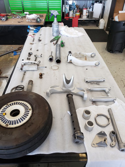 Nose Gear Disassembled