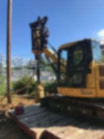 Cluster Pole Drill on Mini Excavator #1.