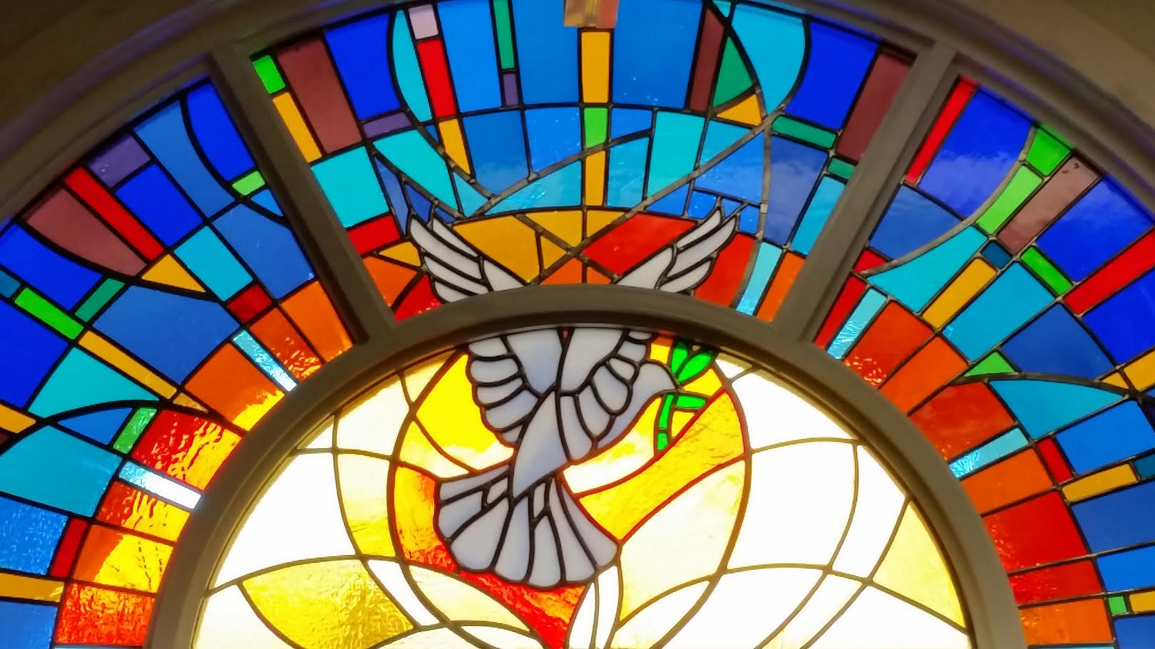 Our new stained glass window