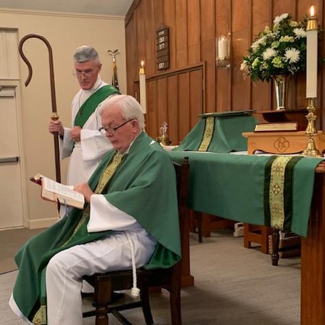 Bishop Lee's visit.
