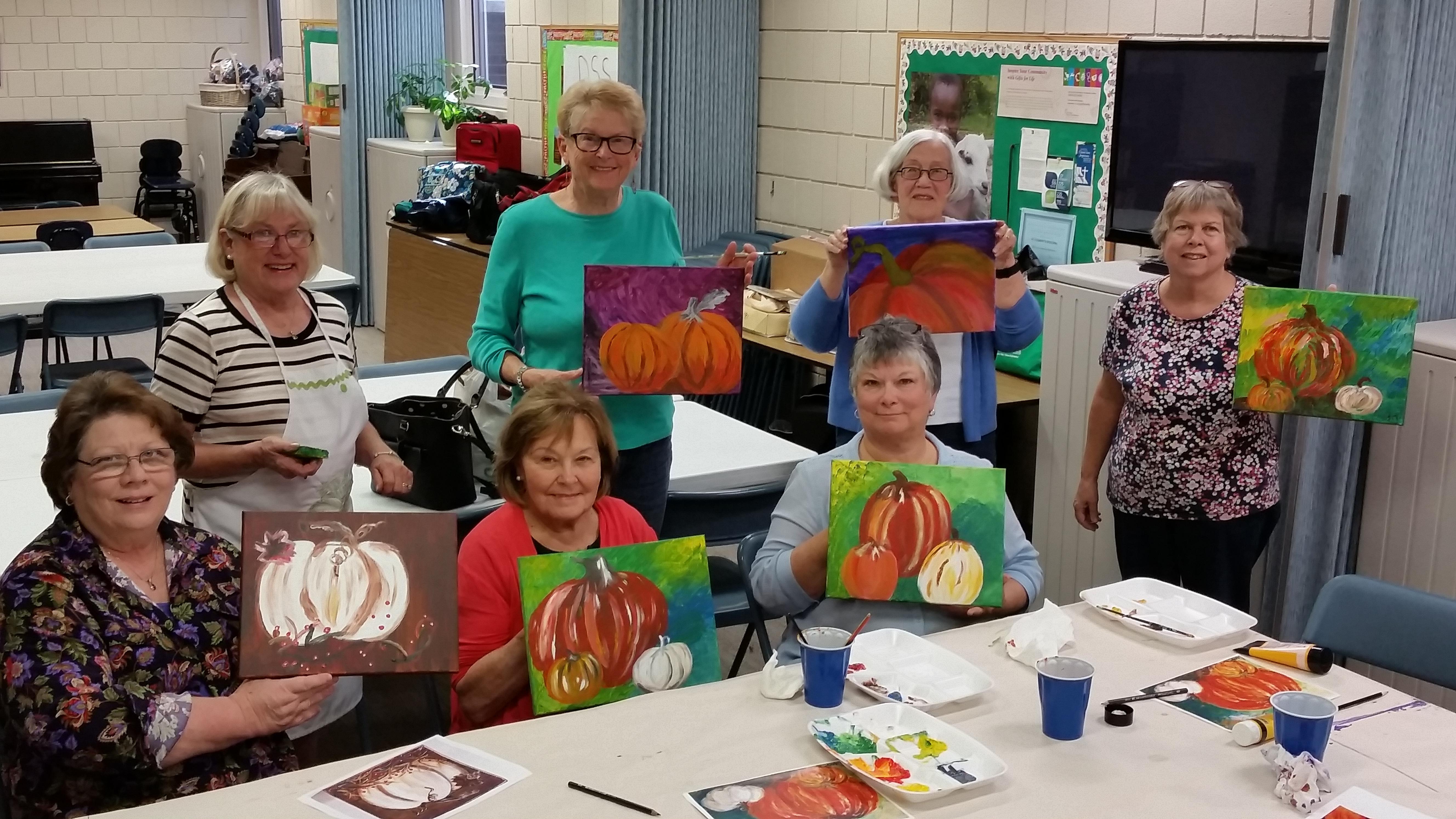 Women's Group fall art project 2017