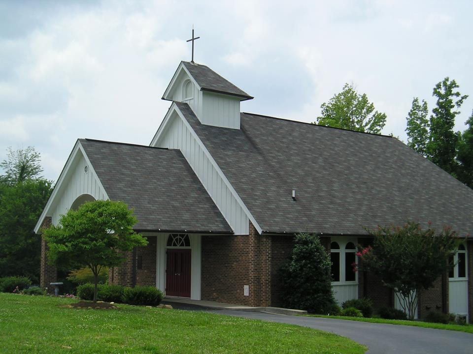 Church landscaped view