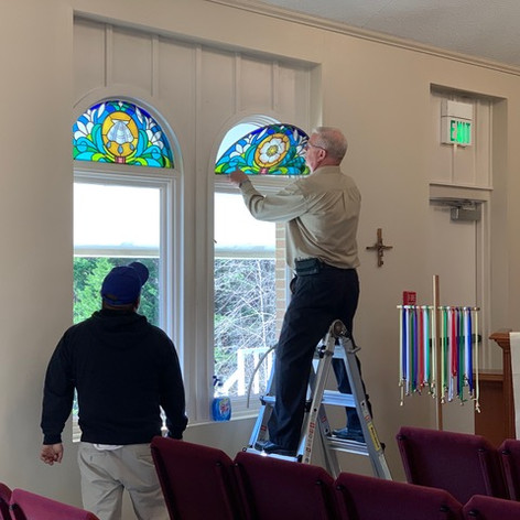 New stained glass windows
