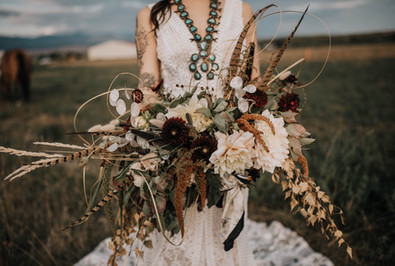 Lush Bridal Bouquet // Dried and Fresh Flowers