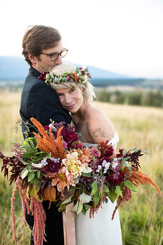 Montana Wedding Lush Bridal Bouquet