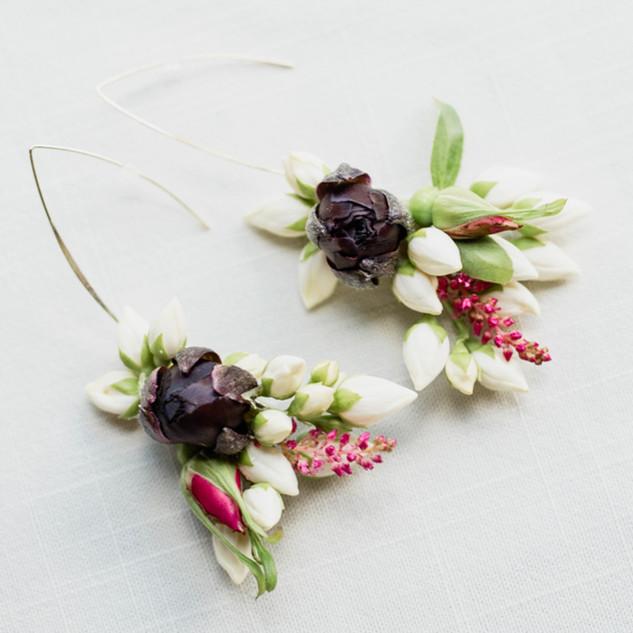 Fresh Flower Earrings // Wedding Jewelry // Floral Jewelry