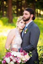Romantic Pink and Blush Bridal Bouquet and Boutonniere
