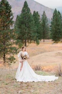 Dried Flower Bridal Bouquet // White Raven Wedding