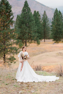 Dried Flower Bridal Bouquet // White Raven Wedding