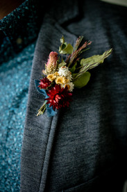 Jewel Tone Dried Flower Boutonniere