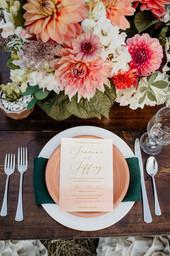 Montana Elopement Wedding Table Setting