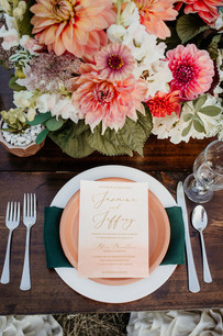 Montana Elopement Wedding Table Setting