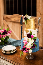 Floral Design Wedding Cake