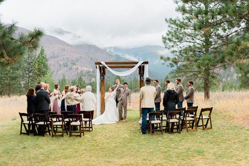 Stunning White Raven Fall Wedding