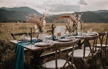 Dried Flower Wedding Tablescape