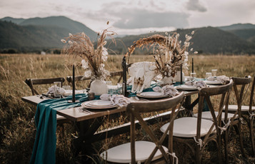 Dried Flower Wedding Tablescape