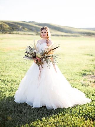 Montana Wedding Dried Flower Bridal Bouquet