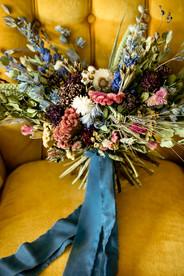 Jewel Tone Bridal Bouquet // Dried Flower Bridal Bouquet
